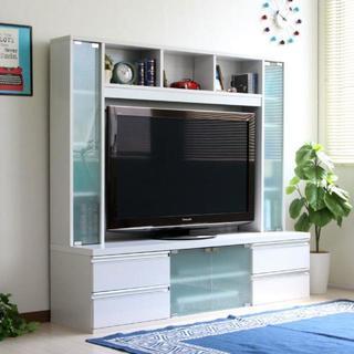 高品質!ハイタイプ 鏡面 50インチ対応 TV台 テレビラック 150cm幅(リビング収納)