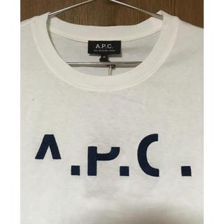 アーペーセー(A.P.C)の新品 APC A.P.C. ロゴ刺繍 半袖 Tシャツ Mサイズ レディース(Tシャツ(半袖/袖なし))
