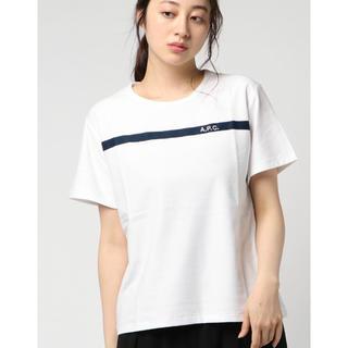 アーペーセー(A.P.C)の新品 APC  A.P.C. レディース ボーダー 刺繍 ロゴ Tシャツ S(Tシャツ(半袖/袖なし))