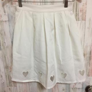 ウィゴー(WEGO)のウィゴー ハート スカート 白 ホワイト(ミニスカート)
