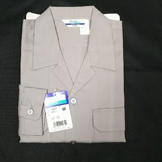 ジチョウドウ(自重堂)の自重堂 長袖オープンシャツ グレー Mサイズ(シャツ)