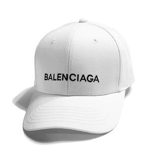 バレンシアガ(Balenciaga)の【新品】ロゴ キャップ 帽子 白 ホワイト 『ご購入の際は専用出品致します』(キャップ)
