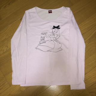 ディズニー(Disney)の【 ディズニー 】Tシャツ 長袖 飾り付き(Tシャツ(長袖/七分))