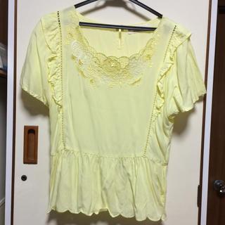 ダブルクローゼット(w closet)のw  closet *カットワーク半袖プルオーバー(シャツ/ブラウス(半袖/袖なし))