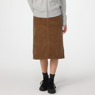 ムジルシリョウヒン(MUJI (無印良品))の無印良品 コーデュロイスカート(ひざ丈スカート)