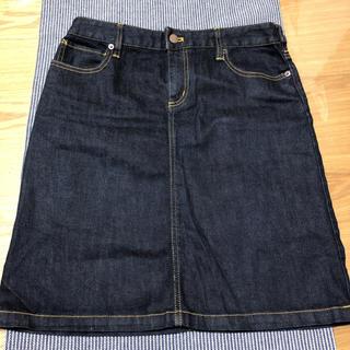 ムジルシリョウヒン(MUJI (無印良品))の美品 無地良品 デニム スカート ストレッチ 64(ひざ丈スカート)