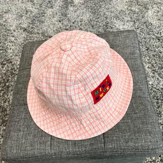 ミキハウス(mikihouse)のミキハウス MIKIHOUSE 帽子 ハット 52センチ 3歳 4歳 ピンク(帽子)
