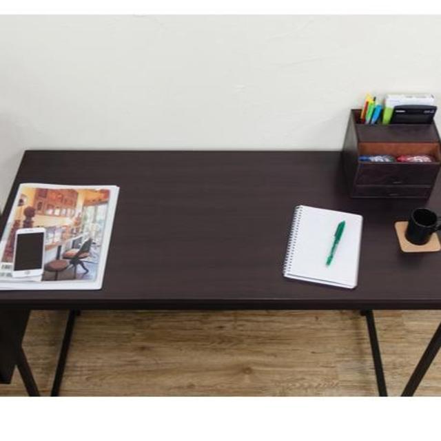 ★送料無料★ 大人気! シンプルデスク (BK/NA/WAL)3色 インテリア/住まい/日用品の机/テーブル(オフィス/パソコンデスク)の商品写真