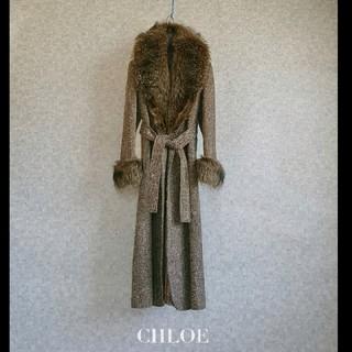 クロエ(Chloe)の超高級 希少 クロエ 最上級ビッグリアルファー 憧れのガウンコート めちゃ可愛(毛皮/ファーコート)