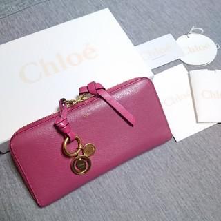 クロエ(Chloe)のChloe❇️アルファベット ラウンドファスナー 長財布(財布)