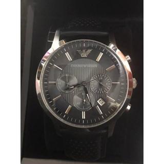 アルマーニ(Armani)のエンポリオアルマーニ 腕時計 クロノグラフ AR2473 ネイビーレザー(腕時計(アナログ))