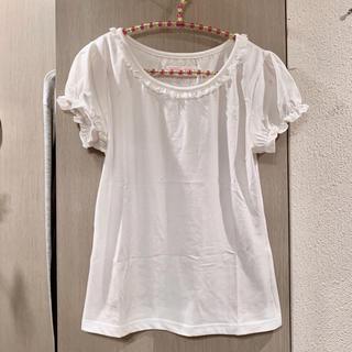 トゥララ(TRALALA)の新品◆TRALALA*パフ袖♡レース付きシンプルTシャツ♡(Tシャツ(半袖/袖なし))