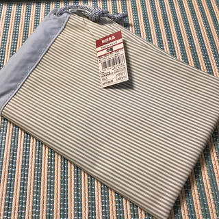 ムジルシリョウヒン(MUJI (無印良品))の無印良品 巾着 グレーストライプ(その他)