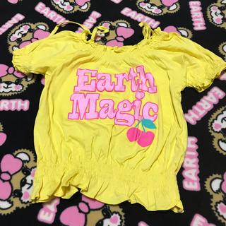 アースマジック(EARTHMAGIC)の21.オフショルチェリーT✩110cm(Tシャツ/カットソー)