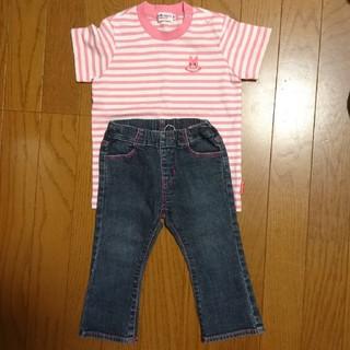 美品! ミキハウス Tシャツ & ジーンズ 90 80(Tシャツ/カットソー)