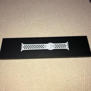 Apple Watch Nike 40mm用バンド ホワイトベルト(ラバーベルト)