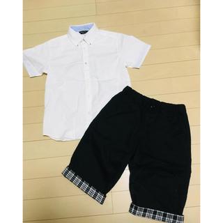 コムサイズム(COMME CA ISM)のコムサ 冠婚葬祭 セットアップ 男の子 半袖シャツ ハーフパンツ 140(Tシャツ/カットソー)
