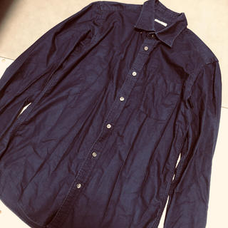 ジーユー(GU)のGU  シャツ  ネイビー  紺(シャツ)