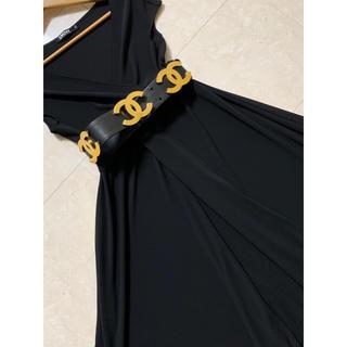 ダナキャランニューヨーク(DKNY)の美品❗️DKNY ジャージ素材ワンピース 黒(ひざ丈ワンピース)