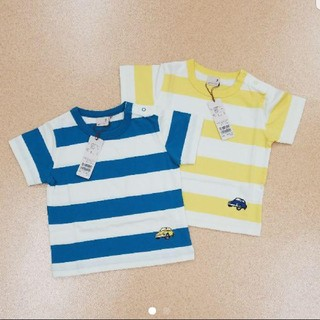 プティマイン(petit main)のプティマイン ボーダー Tシャツ(Tシャツ/カットソー)