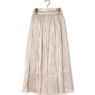 ダブルクローゼット(w closet)のシャイニーサテン×チュールリバーシブルスカート(ロングスカート)