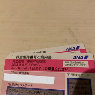 エーエヌエー(ゼンニッポンクウユ)(ANA(全日本空輸))のANA 株主優待券2枚(航空券)
