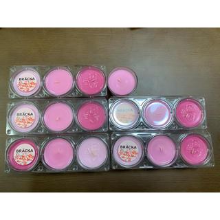 イケア(IKEA)の香り付きキャンドル ピンク 16個セット(アロマ/キャンドル)