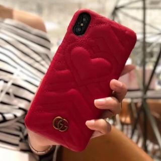 グッチ(Gucci)のGUCCI iPhone ケース キルティング ハート(iPhoneケース)