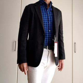 スーツカンパニー(THE SUIT COMPANY)のスーツカンパニー ジャージー素材テーラードジャケット 新品 ブラック Lサイズ(テーラードジャケット)