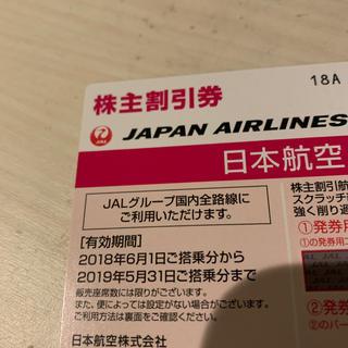 ジャル(ニホンコウクウ)(JAL(日本航空))のJAL 株主優待券1枚(航空券)