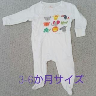 ネクスト(NEXT)のnext☆アニマル柄足付きロンパース(3-6か月サイズ)(ロンパース)