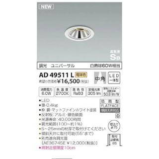 コイズミ(KOIZUMI)のAD49511(蛍光灯/電球)