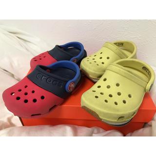 クロックス(crocs)のcrocs  2足 14cm(サンダル)