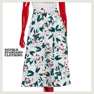 ダブルスタンダードクロージング(DOUBLE STANDARD CLOTHING)のSov.ダブルスタンダードクロージング ストレッチコットンサテンプリントスカート(ひざ丈スカート)