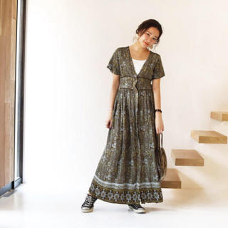 トゥデイフル(TODAYFUL)のTODAYFUL ペイズリー コルセット ドレス ワンピース (ロングワンピース/マキシワンピース)