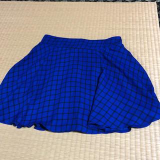 ハニーズ(HONEYS)のミニスカート 膝丈スカート 青(ひざ丈スカート)