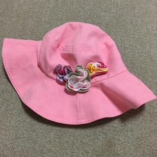 ファミリア(familiar)の【美品】ファミリア  帽子  ピンク  55㎝  familiar(帽子)