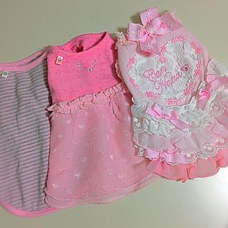 ピンクハウス(PINK HOUSE)のわんこのお洋服 ピンクピンクピンク3点セット(セット/コーデ)