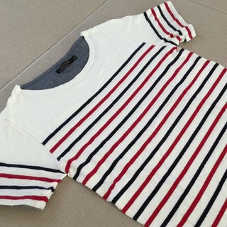 チャオパニック(Ciaopanic)の極美品✨チャオパニック パネルボーダーカットソー ボートネック(Tシャツ/カットソー(半袖/袖なし))