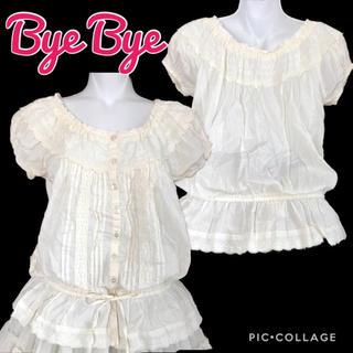 バイバイ(ByeBye)のBye Bye ブラウジングコットンブラウス(シャツ/ブラウス(半袖/袖なし))