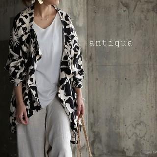 アンティカ(antiqua)のantiqua ボタニカル柄ジャケット アンティカ(シャツ/ブラウス(長袖/七分))