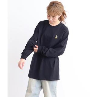 ドットアンドストライプスチャイルドウーマン(Dot&Stripes CHILDWOMAN)のCHILD WOMAN Drink刺繍ロングTシャツ(Tシャツ(長袖/七分))