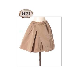 ヌメロヴェントゥーノ(N°21)のNY購入 N°21 ふんわりハリ感生地のフレアスカート ウエストゴムで楽ちん(ミニスカート)