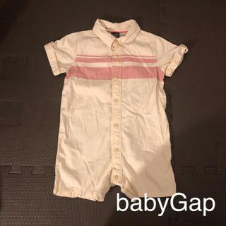 ベビーギャップ(babyGAP)のbabyGap ロンパース 90cm 18〜24M オフホワイト×ピンク(ロンパース)