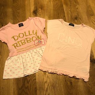 コムサイズム(COMME CA ISM)のTシャツ二枚セット☆女の子110㎝ 美品(Tシャツ/カットソー)