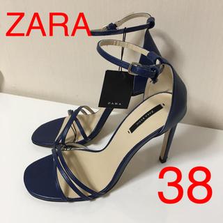 ザラ(ZARA)の新品 ZARA レザー サンダル38(サンダル)
