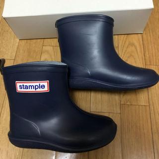 stample レインシューズ 14センチ ネイビー(長靴/レインシューズ)