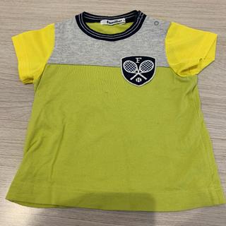 ファミリア(familiar)のファミリア  Tシャツ 半袖 黄緑 黄色 サイズ90(Tシャツ/カットソー)