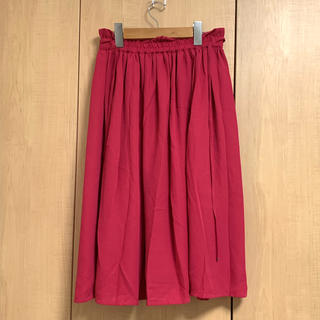 セブンデイズサンデイ(SEVENDAYS=SUNDAY)のビビットピンク スカート(ロングスカート)