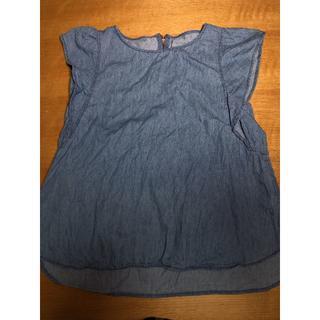 ジーユー(GU)のシャツ 袖なし ブルー(シャツ/ブラウス(半袖/袖なし))